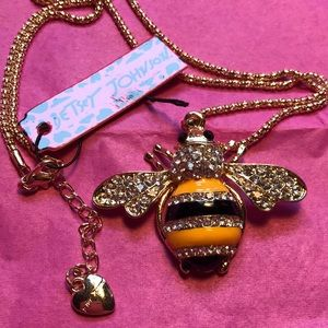 Betsey Johnson bumblebee necklace